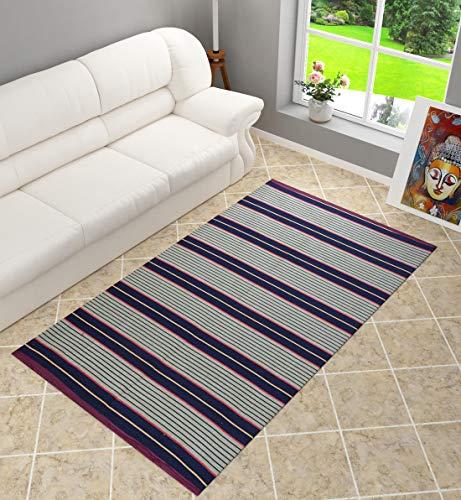 Shankara Carpet for Hall   Living Room   Bedroom   Kitchen   Temple  Bedside Runner   Cotton Carpet   Modern Carpet   Satranji  , 1 Piece (Multi, 4 X 6 feet)