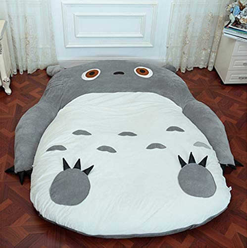 VIVICL Tatami Mattress Totoro Cartoon PP Cotton Portable Sleeping Foldable Breathable Tatami Lazy Plush Sleeping pad Cute Sleeping Bag Kids Sofa Bed,A,150 * 200cm