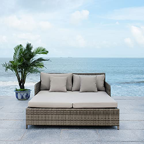 Safavieh PAT7500B Outdoor Collection Cadeo Grey Cushion Daybed