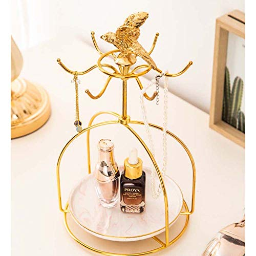 Sebasty Ornamente Kosmetische Hautpflegeprodukte Aufbewahrungsschale Kaffeetasse Mode Schmuck & Uhren Bad Regal Unter Desktop-Finishing-17.5 * 30cm (Color : 2)