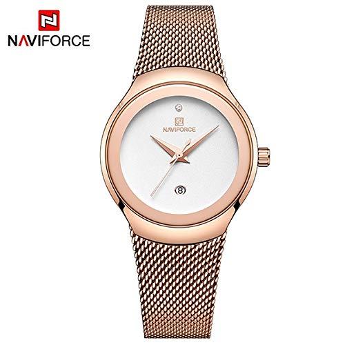 SHOUB Women Fashion Gold Quartz Watch Lady Casual Impermeabile Semplice Orologio da Polso Regalo per Ragazze Wife Saat Relogio Feminino