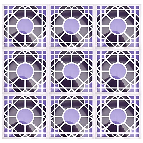 Azulejos de despegar y pegar, protector contra salpicaduras de azulejos adhesivos fácil de usar para el baño(19)