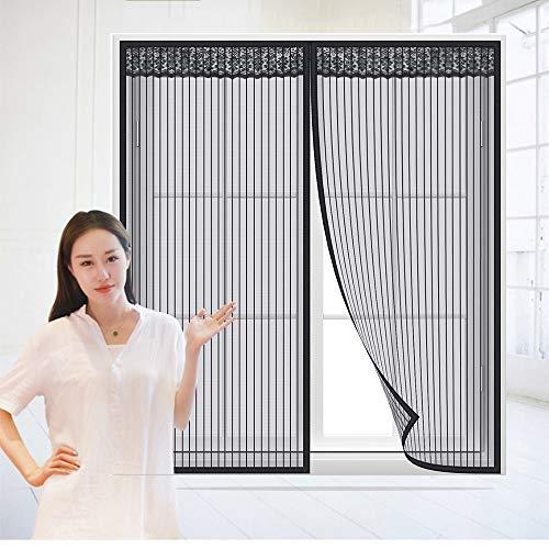 Magnetisch raamscherm, anti-muggen, zelfklevende hor, vliegennet, ventileren, anti-stof, muggenscherm voor huizen, patios, glasvezel, zelfklevende, gordijn tegen muggen, vliegen en insecten.