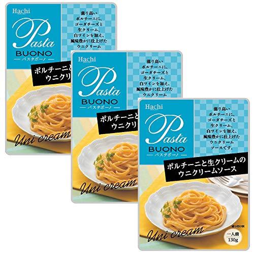 ハチ食品 ポルチーニと生クリームのウニクリームソース130g×3袋