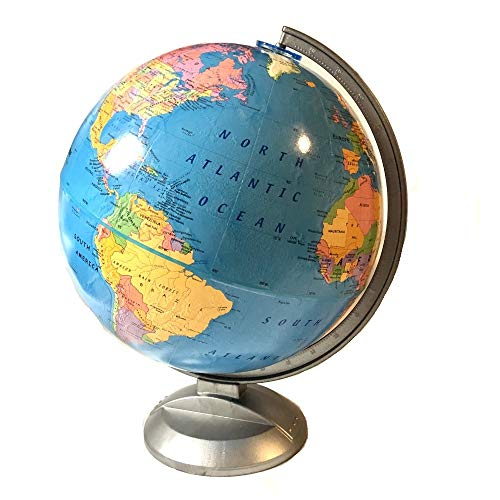 """Replogle Standard - Educational Desktop World Globe with Stand for Kids and Teachers, Over 4,000 Place Names, Designed for Classroom Learning (12""""/30 cm Diameter)"""