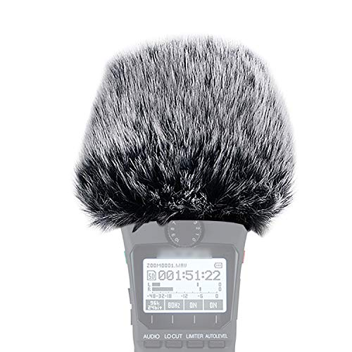 YOUSHARES H1n Windscreen Furry - Outdoor Windscreen Muff Windshield as Pop Filter Custom Fit for Zoom H1n Handy Recorder
