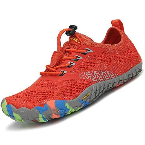 SAGUARO Zapatillas de Trail Niñas Calzado Descalzos Niños Zapatillas de Deporte Fitness...