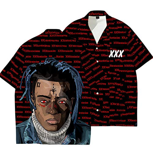 Camisa de Manga Corta Unisex Rapper XXX Hip Hop Camiseta Casual Merch Conmemorativa