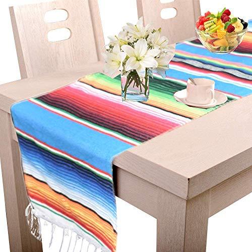 Amajoy 35 x 275 cm mexikanischen Tischläufer Natur Jute für Hochzeit Festival Event Tisch Dekoration