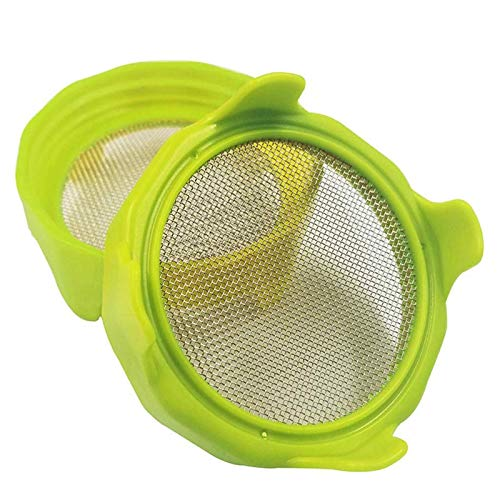 Sprouting Lids with Stainless Steel Screen for Wide Mouth Mason Jars