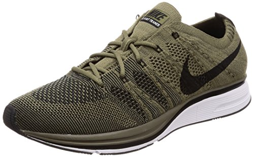 Nike Men's Flyknit Trainer, Medium Olive/Black-White (8 D(M) US, Medium Olive/Black-White)