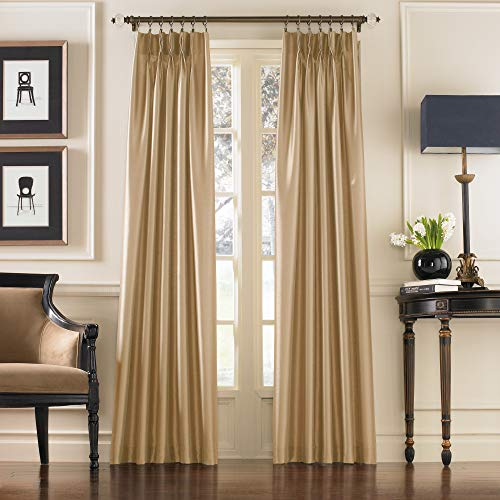 """Curtainworks Marquee Curtain Panel, 30 by 95"""", Sand (Champagne Beige)"""