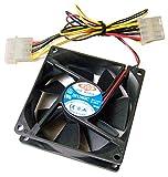 Dynaeon - Dynaeon DC12v 0.20a 80x25mm Fan DF1208BC
