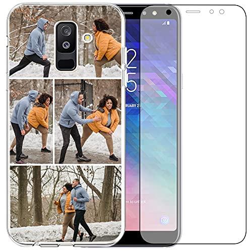Funda de teléfono compatible con Samsung Galaxy A6 Plus 2018 (Clear Layuot 4 imágenes)