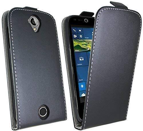 ENERGMiX Klapptasche Schutztasche kompatibel mit Acer Liquid Z330 (Dual SIM) in Schwarz Tasche Hülle