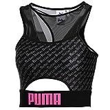 PUMA Women's X Barbie Crop Top, Black, S