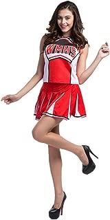 Makroyl Womens Cheerleader Costume Uniform Halloween Fancy Dress Cosplay Costume