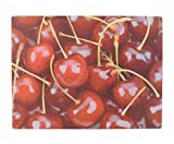 Vily's House Tabla de Cortar, Cristal, Rojo, 30x40x3 cm