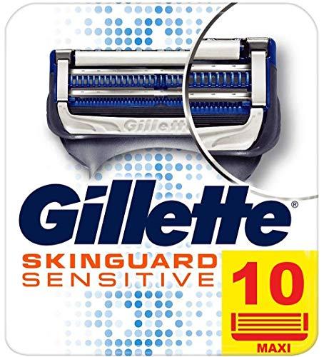 Gillette Skinguard Sensitive Lames de Rasoir Homme, Pour Peaux Sensibles, Pack de 10 Recharges