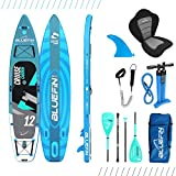 """Bluefin SUP Stand Up Inflatable Paddle Board with Kayak Conversion Kit 