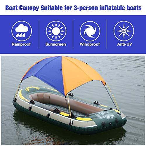 Cuttey Schlauchboot Dach Zelt Faltbare Baldachin Für Schlauchboot - Bootszelt Für Schlauchboot 2-3 Personen (295x137x43cm), Sonnenmarkise Boot Sonnenschutz Schlauchboot wasserdichte Klappmarkise