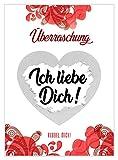 5 Rubbelkarten Überraschung von VULAVA + Gratis Online-Handbuch mit 100 Überraschungsideen – die DIN A6 Karten sind das Geschenk für Schwangerschaft Patentante DIY Rubbellose Geburtstag...