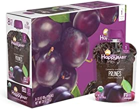 Happy Baby Organic Clearly Crafted Stage 1 Baby Food 1 Prunes (Pack of 8)