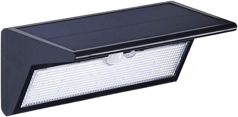 46 LED-Sicherheitsleuchten, Solarbeleuchtung Auenwand-Lampe Wasserdichte Solarleuchten mit 4 Beleuchtungsmodi für Garten, Patio, Walkway Beleuchtung,b