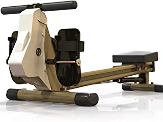 Foldable Trac Glider Rowing Machine Workout Equipment 12 Resistance Setting with LCD Display 440 LB Weight Capacity for Ho...