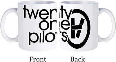 Twenty One Pilots トゥエンティ ワン マグカップ ホワイト コーヒーカップ セラミックカップ 耐熱性 無地 330ml オフィス