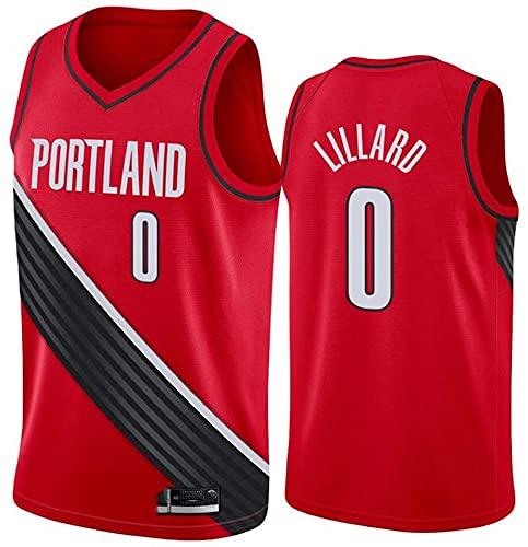 WSWZ Camisetas De Baloncesto De La NBA - NBA Blazers 0# Camiseta De Damian Lillard para Hombre - Chalecos Cómodos Casuales Camisetas Deportivas Camisetas Sin Mangas,A,S(165~170CM/50~65KG)