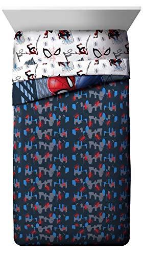 Product Image 7: Jay Franco Marvel Spiderman Crawl 5 Piece Full Bed Set – Includes Reversible Comforter & Sheet Set Bedding – Super Soft Fade Resistant Microfiber – (Official Marvel Product)
