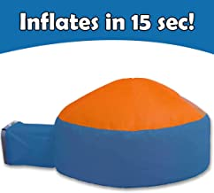 Instant Inflatable Indoor Tent - Super-Spacious Playhouse Tent with Easy Entry and Exit - Viewing Window for Added Safety, Easy Set Up and Storage, Breathable Material (Blue & Orange)