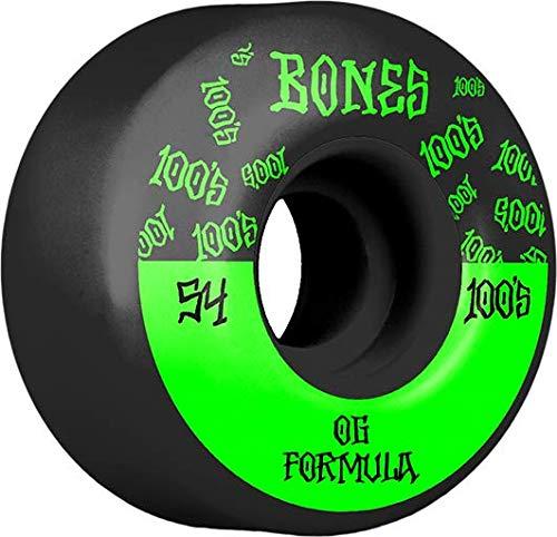 Bones Roues Skate (Jeu de 4) 100's 54mm v4 Black #13