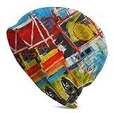 Mxung Gorras de Reloj de Trineo, Gorro de Punto para Hombre, Gorro Holgado Holgado, Gorro, Gorro Resistente, Gorro Holgado, Jean-Michel Basquiat