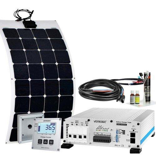 Offgridtec Wohnmobil Solaranlage mTriple-Flex 110W 30/20/250 12V inkl. Netzladegerät 20A und B2B-Lader 30A