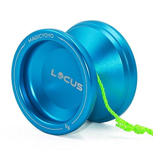 MAGICYOYO Yoyo for Beginners Kids Auto Return Easy Yo-yos Learner V6 Locus Responsive Yoyos m/ Strings Yo Yo Bag Deep Blue