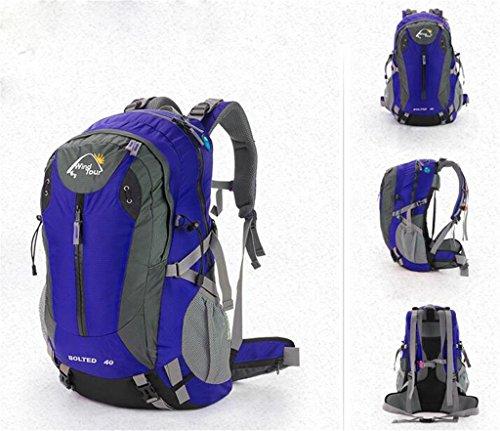 XiaoMin Alpinisme en Plein Air Sac À Vélo Voyage Étanche Sac À Dos Sport Randonnée Professionnel Alpinisme Sac Hommes Et Femmes 40L / 50L - // (Color : Blue, Size : 40L)