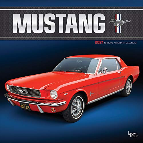 Mustang 2021 12 x 12 Inch Monthly Square Wall Calendar with Foil Stamped Cover, Ford Motor Muscle Car
