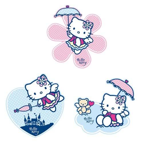 Grandes décorations murales en mousse Hello Kitty