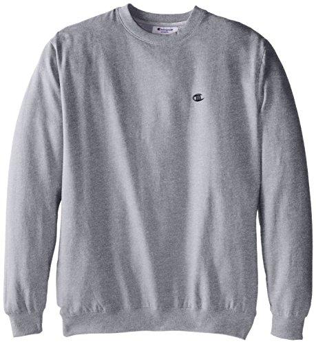 Champion Men's Big-Tall Fleece Crew Sweatshirt, Grey Heather, 3X
