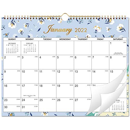 2022 Calendar – advent calendar 2022 with Julian Date, 12-Month Calendar, Jan. 2022 – Dec. 2022, Thick Paper for Organizing & Planning, Yearly Planner + Yearly Overview, 38 x 29.2 cm