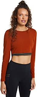 Rockwear Activewear Women's Autumn Haze Elastic Trim Crop from Size 4-18 for