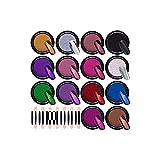 TOCYORIC 14 Boxen Nagelpuder Set Nagel Spiegel Pulver Mirror Powder Set Nail Glitzerpuder Laser Holographic Chrome-Pigmente Nail Powder Spiegelpulve mit 14 Pcs Lidschatten Pinsel für Maniküre