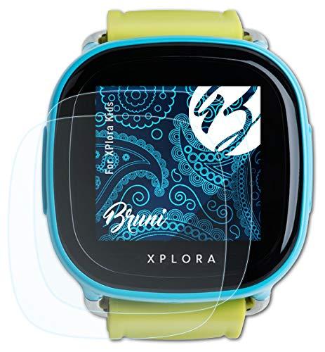 Bruni Schutzfolie kompatibel mit XPlora Kids Folie, glasklare Bildschirmschutzfolie (2X)