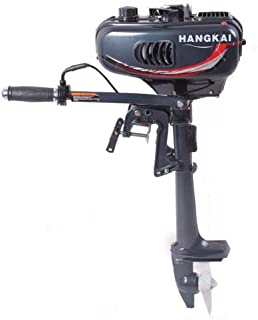 HANGKAI 3.5HP Heavy Duty Boat Motor 2 Stroke Outboard Motor Boat Engine with Water Air Cooling System