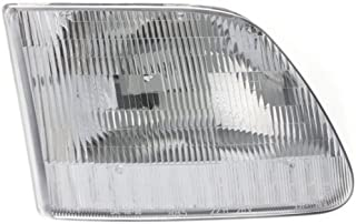 Headlight Assembly Compatible with 1997-2002 Ford Expedition Halogen CAPA Passenger Side
