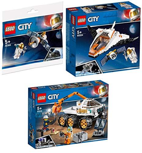 Steinchenwelt Lego® City 3er Set: 30365 Raumfahrtsatellit + 60224 Satelliten-Wartungsmission + 60225 Rover-Testfahrt