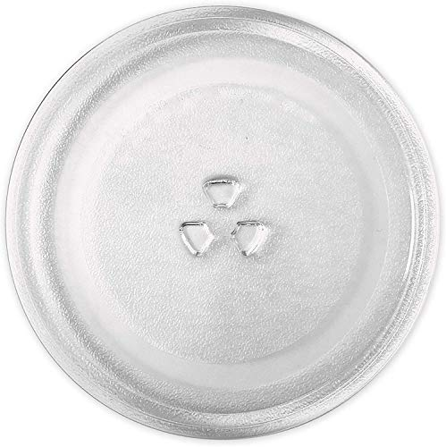 KONIBN Microwave Plate Replacement 9.6' / 24.5cm Microwave Glass Plate/Microwave Glass Turntable Plate Replacement