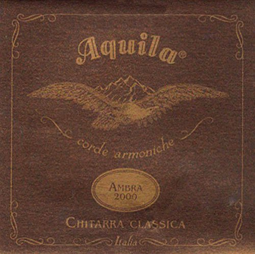 Aquila 108C Ambra 2000 Classical Guitar Komplett-Satz inkl. Nylgut Trebles, Nylgut Multifilament Core/Silver-Plated Wound Basses